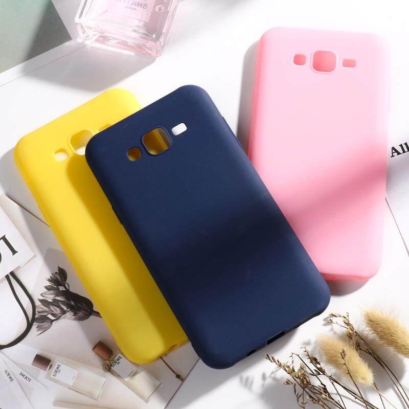 Warna Permen Sarung Handphone TPU Lembut untuk Samsung Galaxy J7 2015 J700F J700FN J700F/DS J700H/DS J700M J700T J700P SM-J700F J700 J7008 j700H 5.5 Inch Covers Soft Multi-Warna Silicone Phone Cover