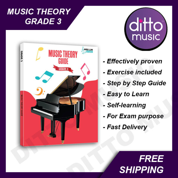 【Rdy Stock】 Music Theory Guide Grade 3 by Mrs Lim Studio. Easy Learning. Fun and Interesting. Music Theory Exam. Proven Effective. Malaysia