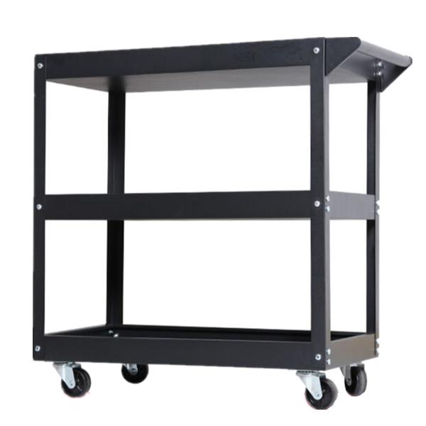 millionhardware - Red , Blue , Black 3 Layer Service Cart Tools Cart Trolley 120kg