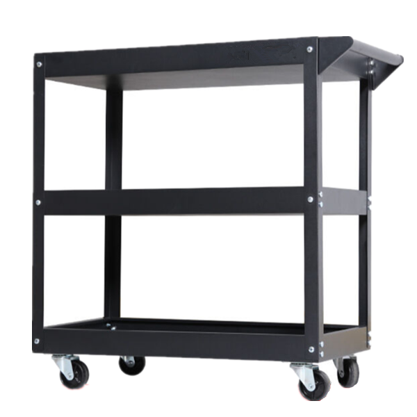 millionhardware - Red Blue Black 3 Layer Service Cart Tools Cart Trolley 80kg