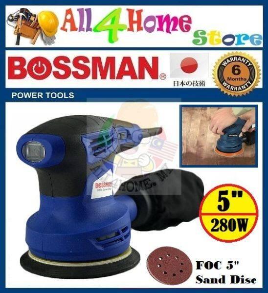 280W 5 BOSSMAN Orbital Sander FOC sanding paper & dust collection bag - BOS5032