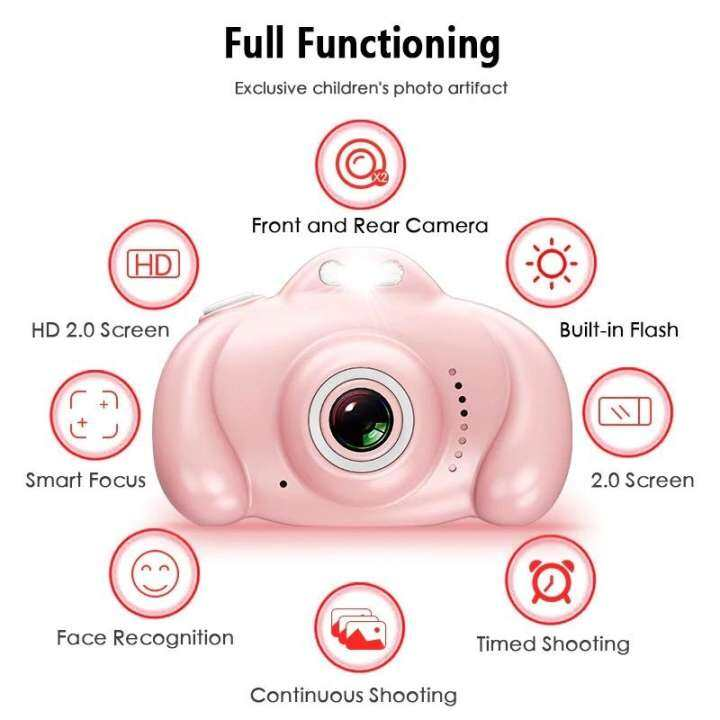 Eleven 2 Kids Mini Digital Camera High Definition 1600w Hd Pixel Photography Video Games Toys Mini Sports Camera The Best Gift For Children Lazada