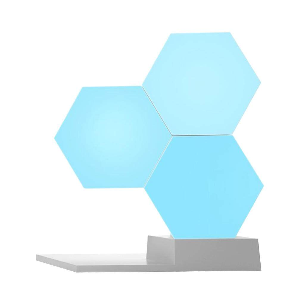Fityle Hexagonal Shape Wall Light Creative Geometry Assembly Night for Home Decor
