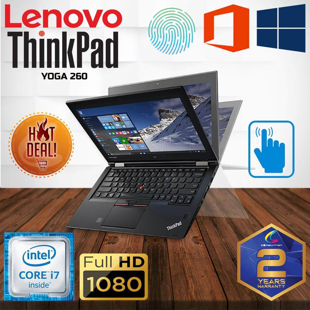 LENOVO THINKPAD YOGA 260 CONVERTIBLE TOUCHSCREEN [ CORE I7 6TH GENERATION/ 8GB DDR4 2133MHZ/ 256GB SSD/ 12.5 FHD TOUCHSCREEN FHD/ W10PRO GENUINE/ 3 YEARS WARRANTY ] LAPTOP Malaysia