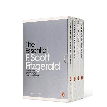 4Pcs Original English Books The Beautiful and Damned, The Great Gatsby The Worlds Classic Fiction