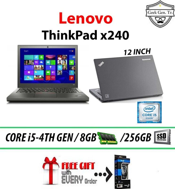 LENOVO THINKPAD x240 INTEL CORE i5-4TH GEN 8GB RAM 256GB SSD 12.5 INCH Malaysia