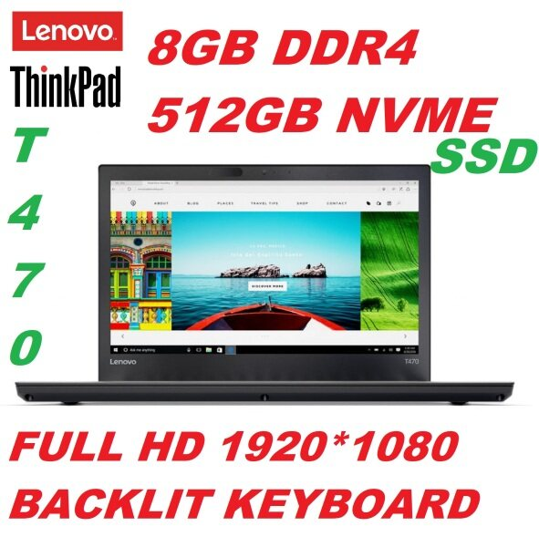 LENOVO THINKPAD T470 [INTEL CORE i5-7300U 7TH GEN /8GB DDR4 RAM/512GB NVME SSD/14 FULL HD LED SCREEN/INTEL HD GRAPHIC/BACKLIT KEYBOARD/WIN 10 PRO(REFURBISHED) Malaysia