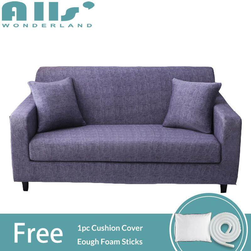 Slipcover Sofa Cover 3 seater Sofa Slip Cover 1 2 4 Seater Elastic All-inclusive Universal Stretchable Cover for Sofa  Muti-sizes Slipcover