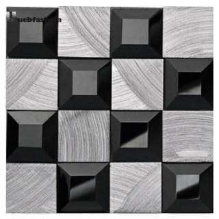 Bộ 10 miếng dán tự dính kiểu gạch ốp lát họa tiết khảm đá dán tường bằng nhựa PVC chống thấm decal trang trí nhà bếp phong cách tối giản hiện đại - INTL thumbnail