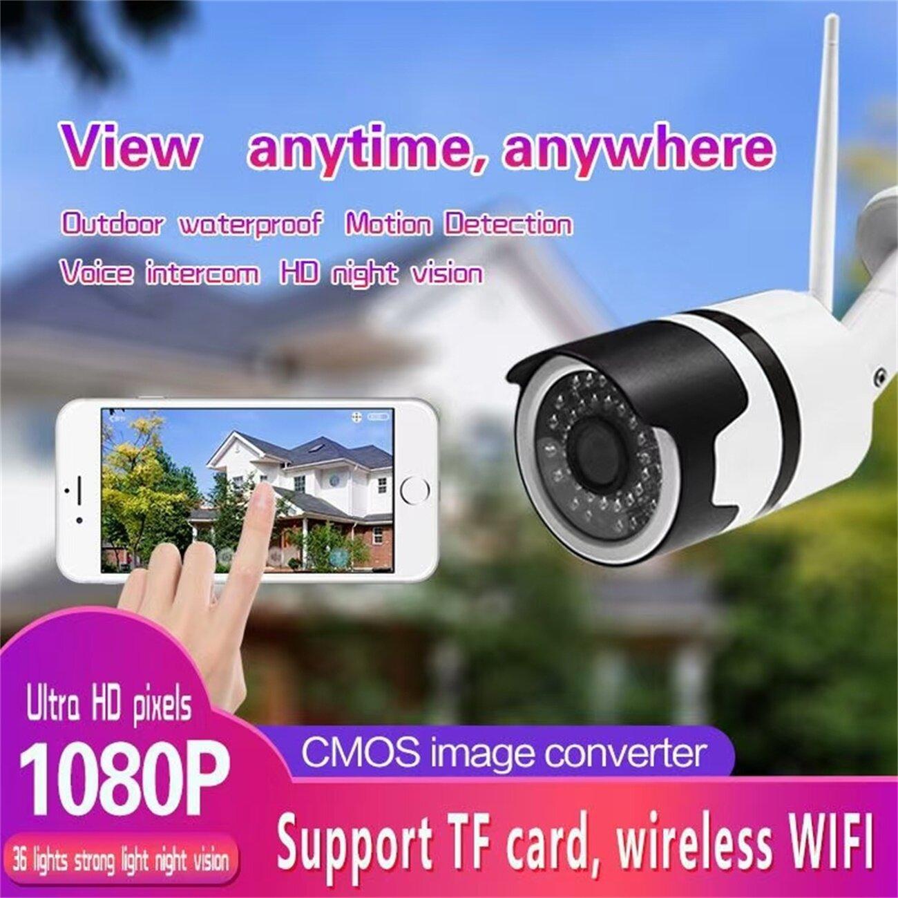 Eletop Camera Ip Âm Thanh H.265 Full Hd 2MP Camera Quan Sát Ban Đêm Hồng Ngoại WIfi Giám Sát Cctv Ngoài Trời Chống Nước 1080P