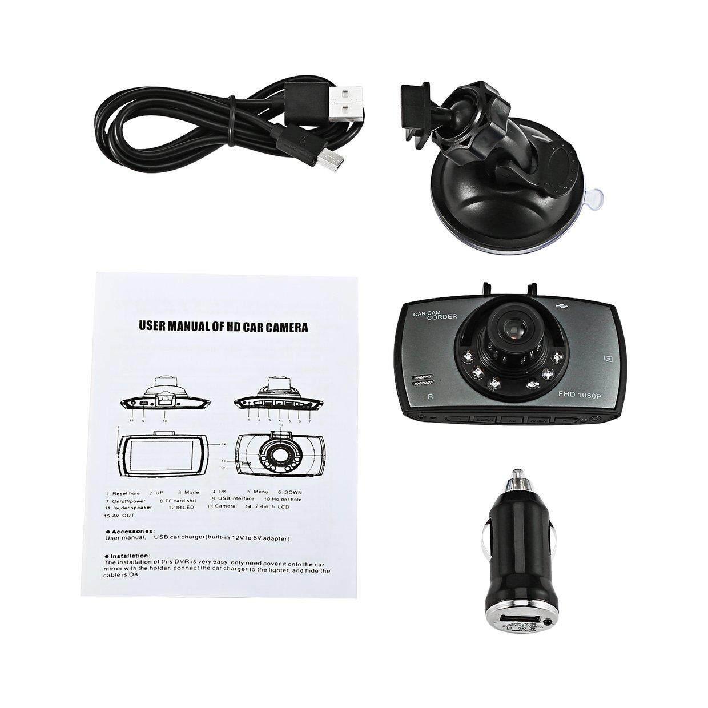 CELE Portable HD 16:9 LCD Night Vision Digital Video Camera G-sensor Car Camcorder