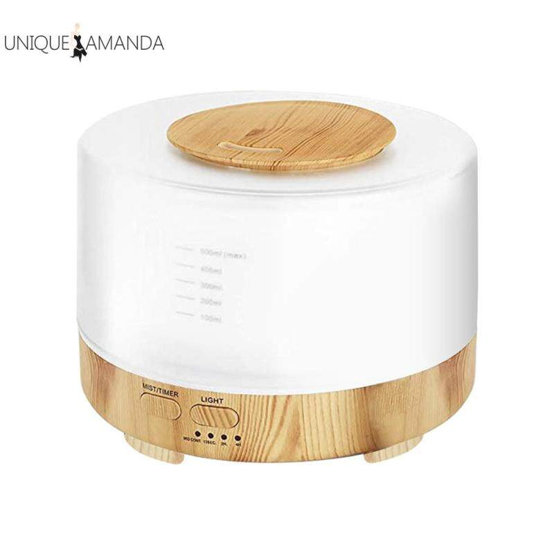 Air Humidifier Electric Wood Grain Oil Aromatherapy Aroma Diffuser with Colorful Night Light Singapore