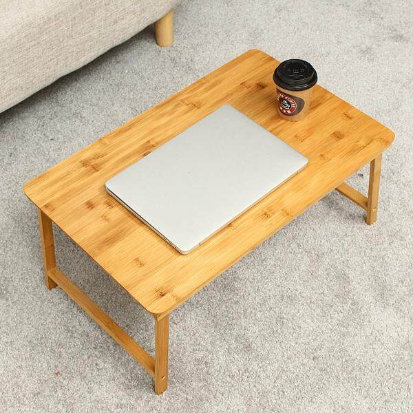 Mu Ma Ren Folding Laptop Desk Bed Table Bamboo Work Tray Notebook Computer Dormitory Lazy Renting/Decoration