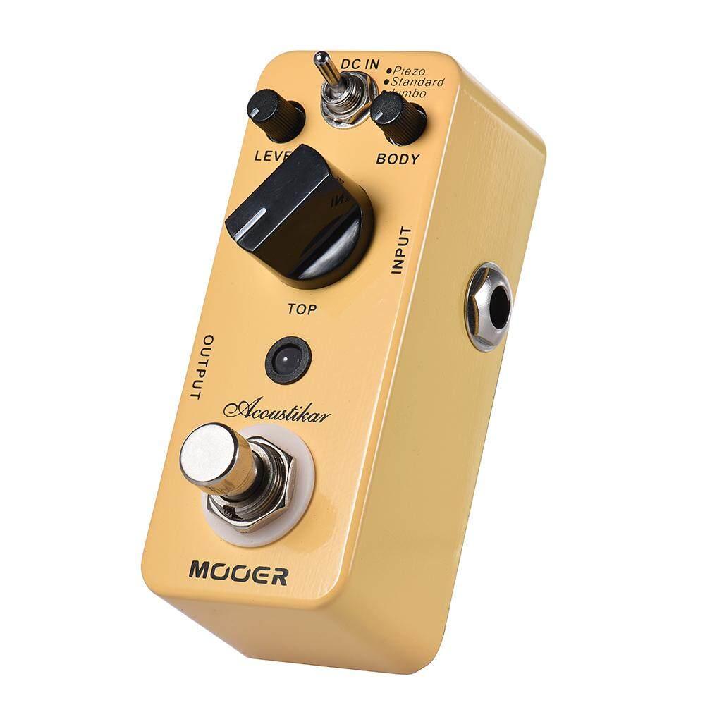 MOOER Acoustikar Acoustic Guitar Simulator Effect Pedal True Bypass with 3 Modes (Piezo/Standard/Jumbo)