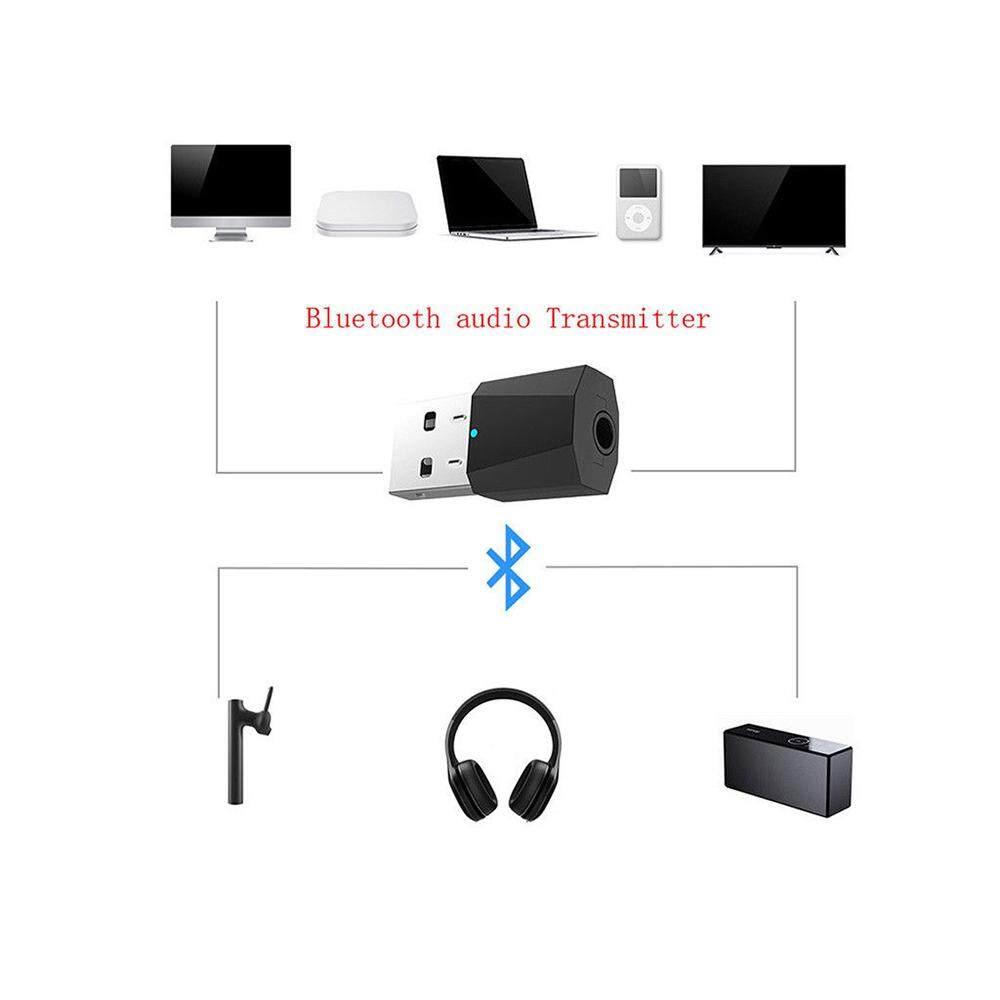 Poya ใหม่ตัวรับส่งสัญญาณเครื่องเสียง Usb บลูทูธ 4.2 สเตอริโอใช้กับทีวี P ลำโพงบลูทูธอัจฉริยะหูฟังแบบมีสายชุดหูฟังไร้สาย.