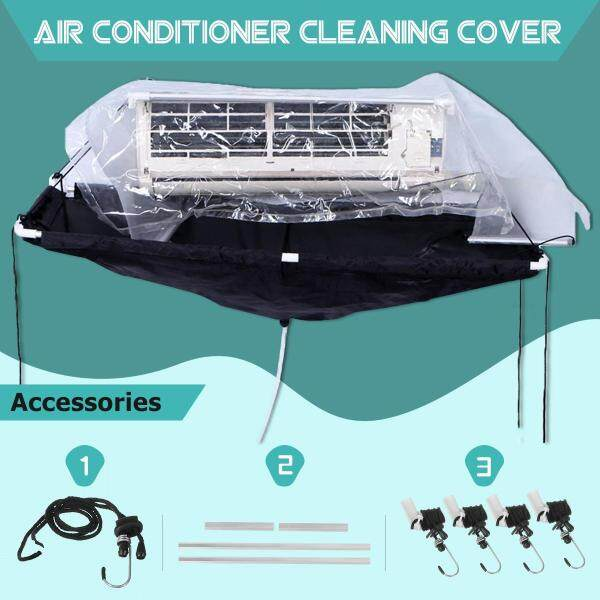 Wall-mounted air conditioner cleaning cover