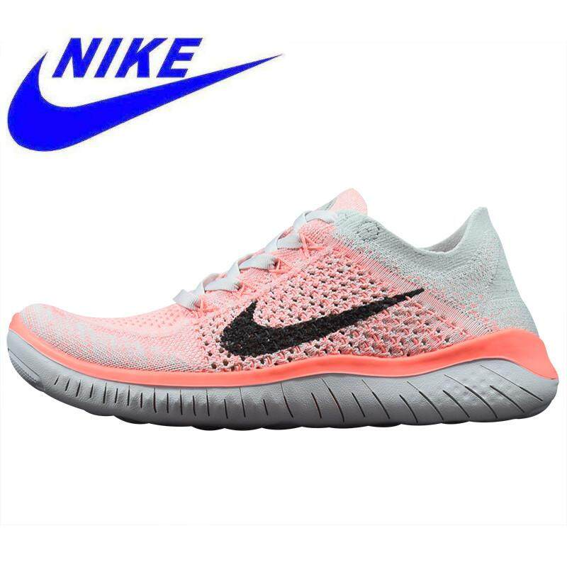 new product 22f86 aac9a 2019 New Nike Free Rn Flyknit Women s Running Shoes, Pink, Sports Shoes  Breathable Lightweight