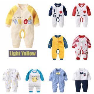 Áo Liền Quần Trẻ Em Dài Tay Cho Trẻ Sơ Sinh Cotton Nguyên Chất 0-24M Quần Áo Một Mảnh thumbnail
