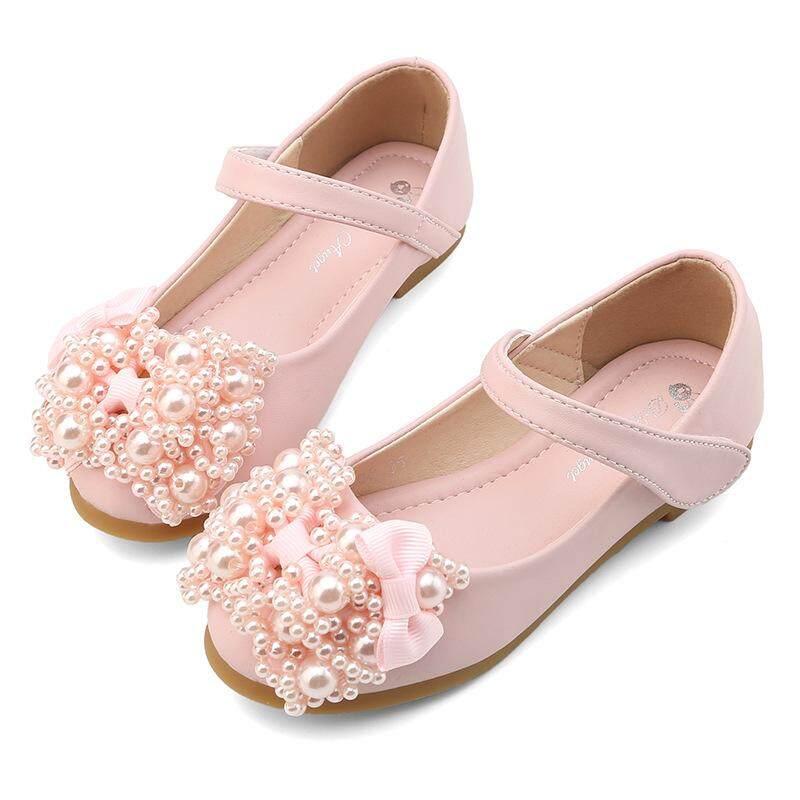 Giá bán Bé gái giày Nhung bé gái thời trang giày, phiên bản Hàn Quốc nơ giày công chúa