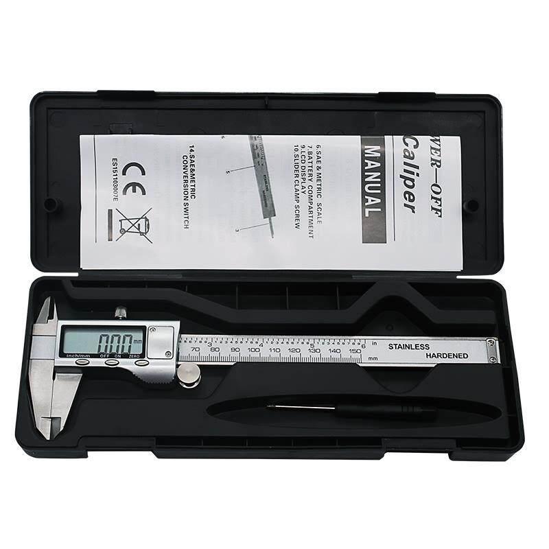 6-Inch 150mm Stainless Steel Electronic Digital Vernier Caliper Metal Micrometer Measuring