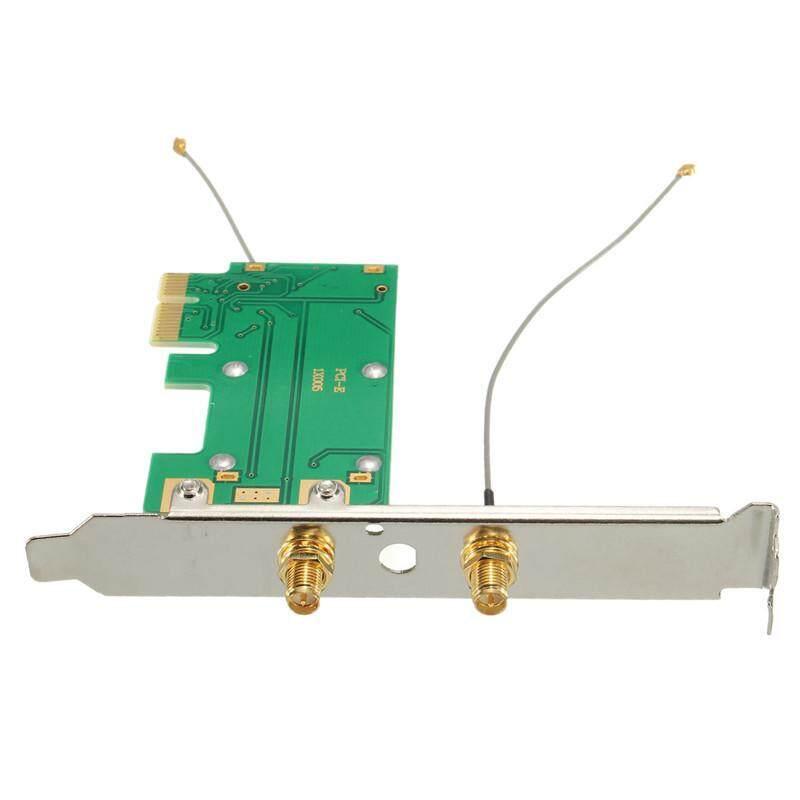 S SKYEE 120mmX70mmX17mm Mini Wireless WIFI Mini PCI-E Card To PCI-E Wlan  Adapter Expansion Network Card 2 Antenna For Desktop