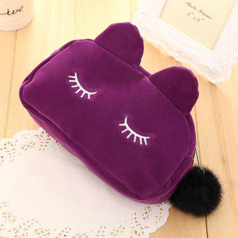 Portable Cartoon Cat Women Bags Makeup Fashion Pouch Quality Girls Travel Cosmetic Bag Waterproof Wash Storage Organizer Case