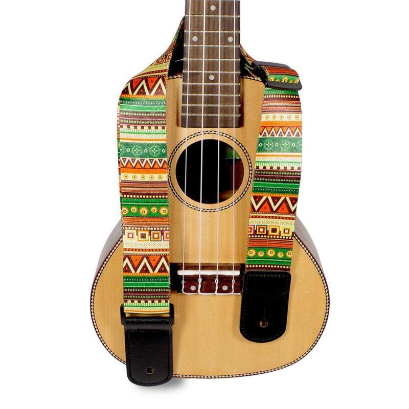 Wangwang Ethnic Printing Folk Guitar Straps Thickened Electric Guitar Bass Ukulele Straps Malaysia