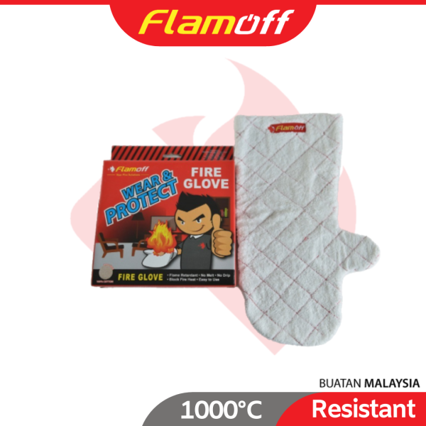 FLAMOFF Wear Heat Resistant Home and Office Fire Protection up to 1000°C