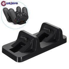 Guajave Dual Bộ Điều Khiển Sạc Không Dây Tay Cầm Chơi Game USB Dock Sạc Đứng dành cho PlayStation PS4