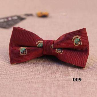 988c4775874b การส่งเสริม High Quality Floral Bow Ties for Men Fashion Korean Wine Red  Black Men's British Dress Bowtie Wedding Groom Groomsmen Bow Tie with Gift  Box ...