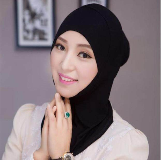 139ceefa MOVTOTOP Women Adjustable Muslim Hijab Neck Cover Scarf Bonnet Inner Hijab  Cap Full Cover Bone Lady