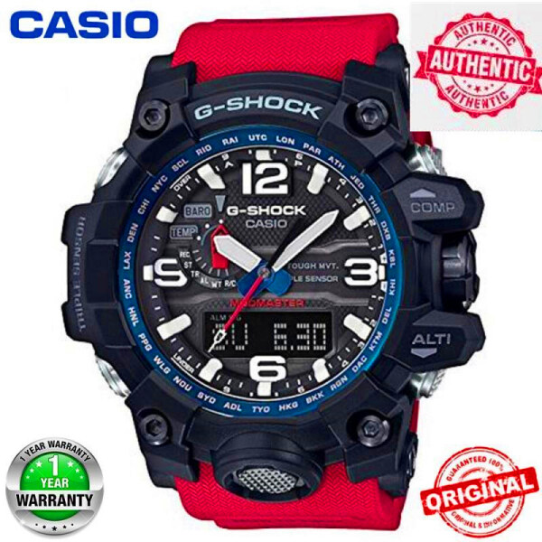 (Free shipping) Original G Shock GWG-1000 MenSport Watch 200M Waterproof Shockproof World Time LED Auto Light Wrist Sports Watches with 2 Year Warranty GWG1000 GWG-1000 in stock Malaysia