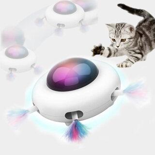 Đồ Chơi Mèo Lông Vũ Tự Động, Đồ Chơi Điên Điện Tương Tác Ngẫu Nhiên Đồ Chơi Thông Minh Cho Mèo Con, Lái Tự Động Led thumbnail
