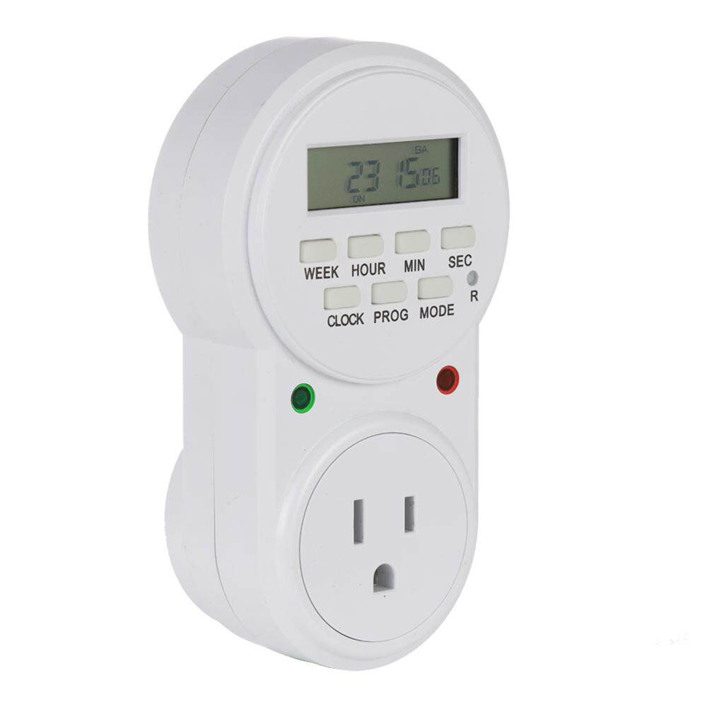 US Plug Smart Power Socket Digital Timer Switch Energy Saving Adjustable Programmable Setting of Clock On Off Time