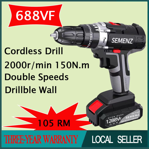 668VF Electric Drill With One Battery Impact Cordless Screwdriver Cordless Drill Impact Electric Drill Power Tools Hammer Drill Electric Drill Hand