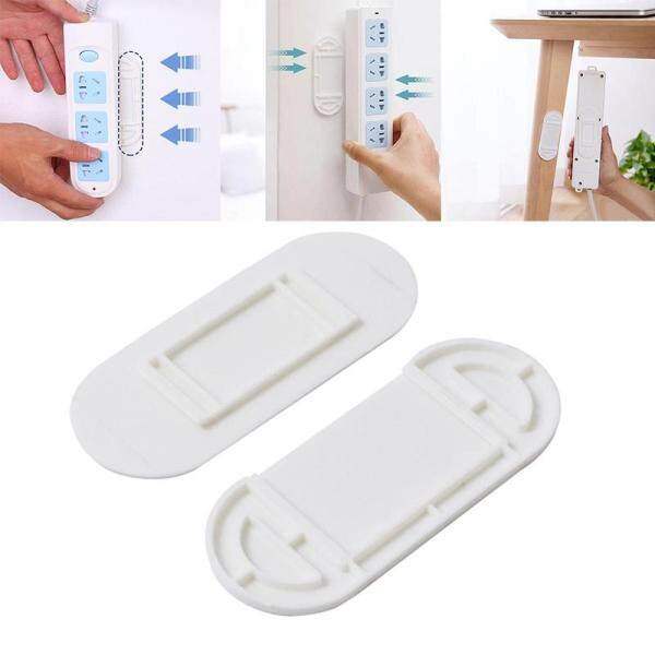 【Rainly Home】6 Row And Insert Holder Punch-free Wall Hanging Patch Panel Holder Wall-mounted Storage Without Traces Socket Paste Wall Sticker
