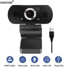 KEBETEME HD 1080P Webcam Máy Tính Mini PC Camera Web Với Phích Cắm USB Camera Xoay Để Phát Sóng Trực Tiếp Cuộc Gọi Video Công Việc Hội Nghị