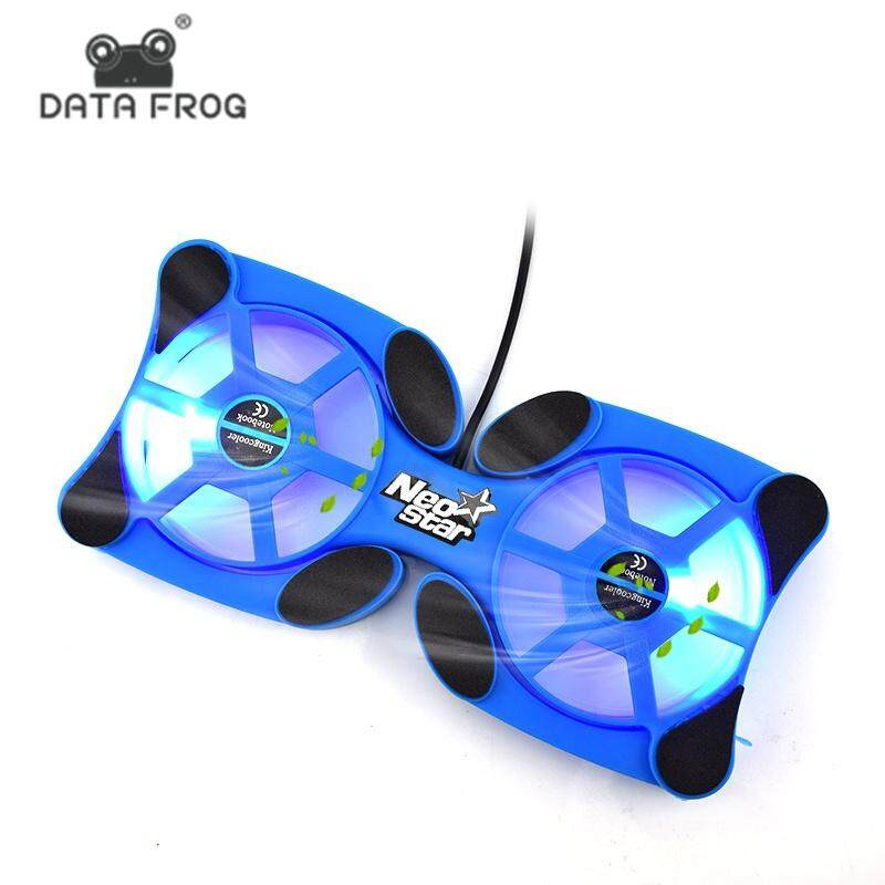 DATA FROG Foldable USB Laptop Cooling Pads With Double Fans Mini Octopus Notebook Cooler Cooling Pad For 7-15 Inch Notebook Laptop Malaysia