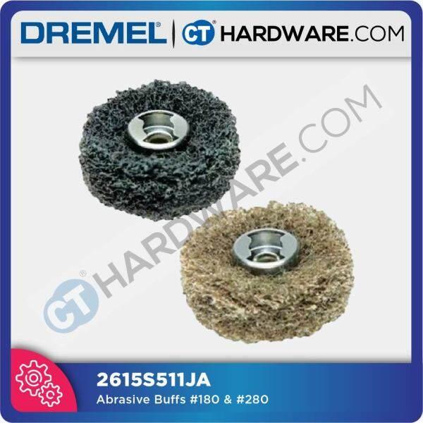 DREMEL EZ SPEEDCLIC ABRASIVE BUFFS, G180 G280 FOR SANDING x2PC #511S ( 2615S511JA )