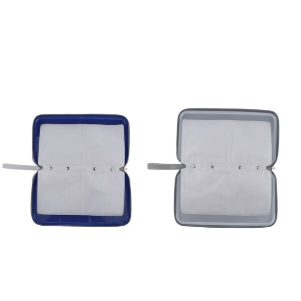 Miracle Shining 80 Capactiy Hard Plastic Square CD Wallets DVD Case Carry Organizer Binders
