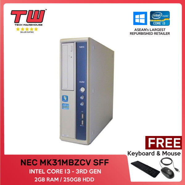 NEC MK31MBZCV (SFF) / INTEL CORE i3 3RD GEN / 2GB RAM / 250GB HDD / (FACTORY REFURBISHED) Malaysia