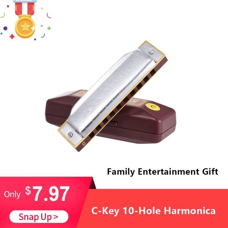 SUZUKI Folkmaster Blues Harmonica Standard Key Of C 10-Hole 20 Tones Diatonic Blues Gaita Harmonica For Beginner Music