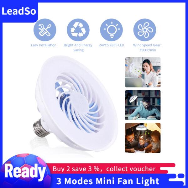 Đèn Quạt Mini 85-220V 12W Đèn Thông Gió E27 3 Chế Độ, Đèn Bàn Cho Phòng Ngủ Phòng Khách