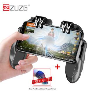 Bộ điều khiển trò chơi zuzg, tay cầm chơi game pubg 6 ngón, cần điều khiển, kích hoạt bắn súng, quạt làm mát miễn phí cho điện thoại iOS Android thumbnail