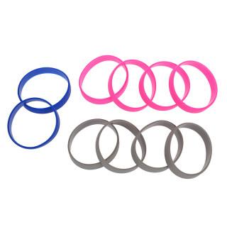 10 Silicone Rubber Bracelet Cuff Wristband Wrist Band 12mm thumbnail