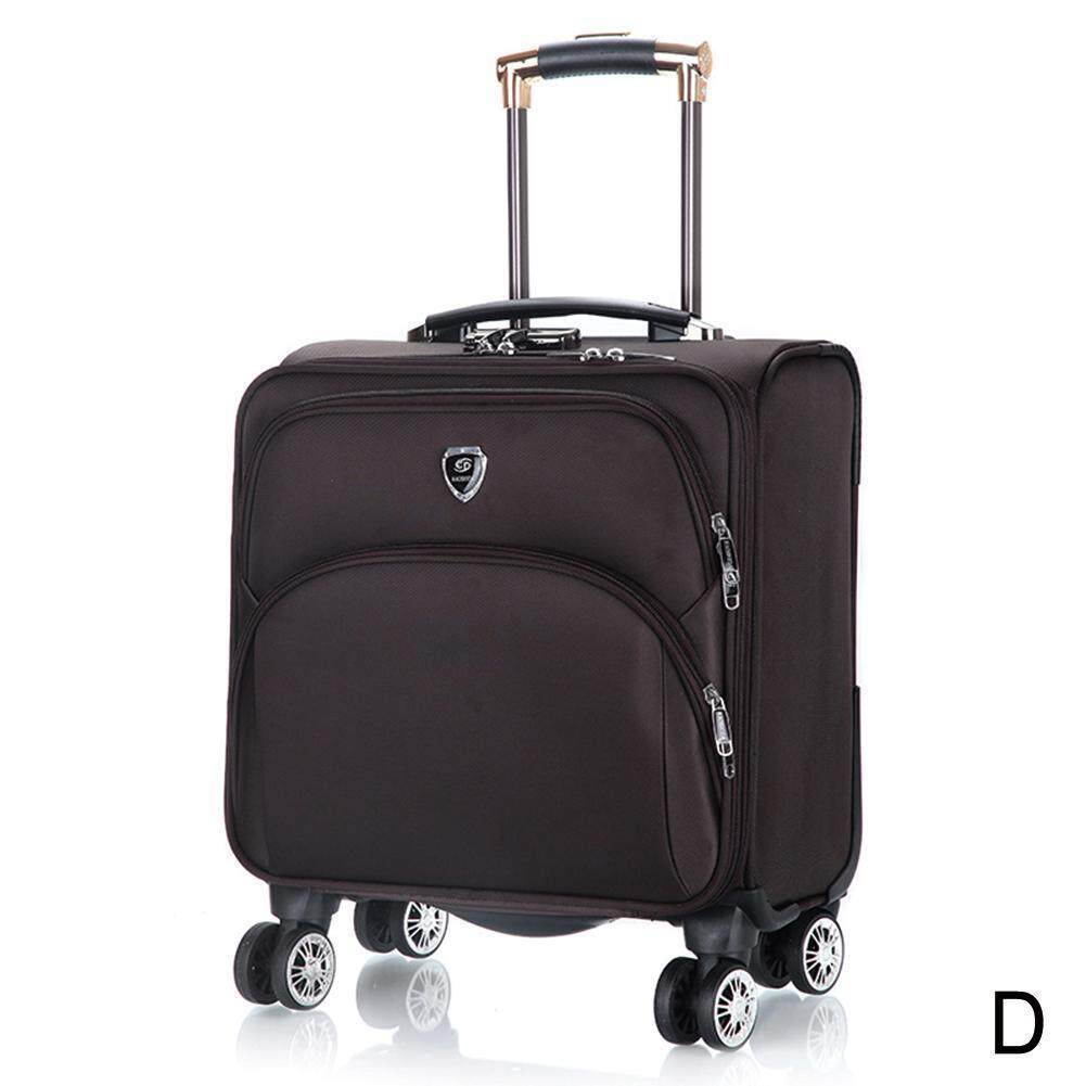 Luggage Bags Suitcase Bags Boarding the chassis 18 caster suitcase Password Oxford Universal inch luggage trolley case small case wheel inch cloth 18 trolley P6W4
