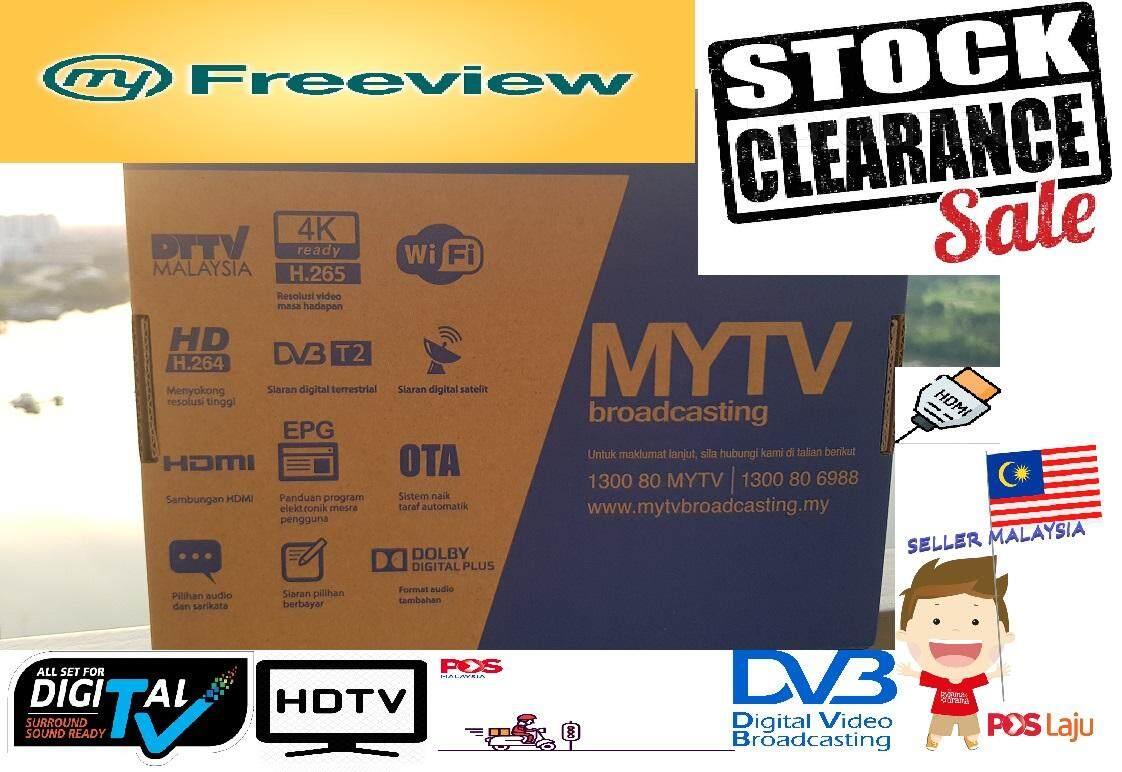 ORIGINAL MYTV Dekoder Combo DVB S2 / T2 Asiasat9 (FREE BATTERY)
