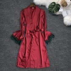 Đồ Ngủ Lụa Satin Quyến Rũ Cho Nữ Xinh Xắn Đồ Ngủ Váy Ngủ Váy Ngủ Đồ Lót Áo Liền Quần Ngoại Cỡ Bộ Đồ Ngủ Cho Nữ Đồ Lót Quyến Rũ Gợi Cảm Đồ Ngủ Đồ Mặc Nhà Lớn Polyester Màu Đen