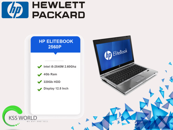 HP EliteBook 2560p - 12.5 - Core i5 2520M - Windows 7 Pro 64-bit - 4 GB RAM - 320 GB HDD Malaysia
