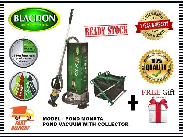 BLAGDON POND MONSTA THE ULTIMATE POND CLEANING SYSTEM POND VACUUM WITH COLLECTOR